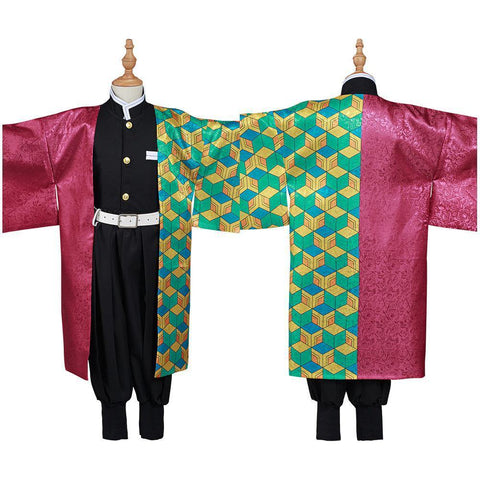 Demon Slayer: Kimetsu No Yaiba Tomioka Giyuu Kids Kimono Outfits Halloween Carnival Suit Cosplay Costume - SpiritCos