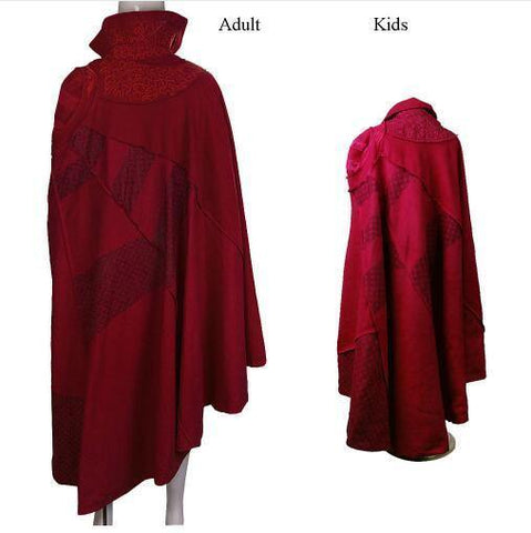 Adult /Kids Doctor Strange Red Cloak Cosplay Costume Robe - SpiritCos