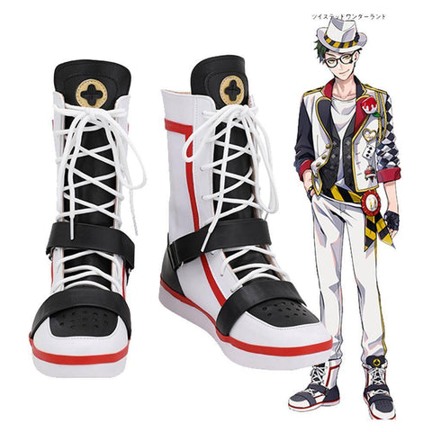 Game Twisted-Wonderland Alice In Wonderland Theme Trey Cosplay Shoes - SpiritCos