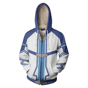 Sword Art Online Costume Halloween Anime Cosplay Zip Up Jacket Pullover Hoodie - SpiritCos