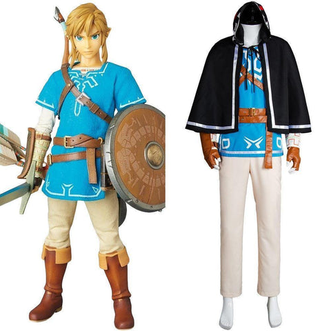 The Legend Of Zelda: Breath Of The Wild Link Suit Uniform Cosplay Costume Outfit - SpiritCos