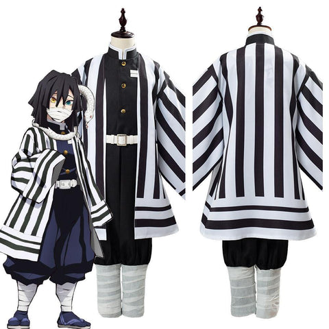 Anime Demon Slayer Kimetsu No Yaiba Iguro Obanai Uniform Outfit Cosplay Costume For Kids Children - SpiritCos
