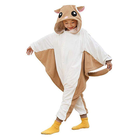Flying Squirrel Costume For Kids Onesie Pajamas For Girls - SpiritCos