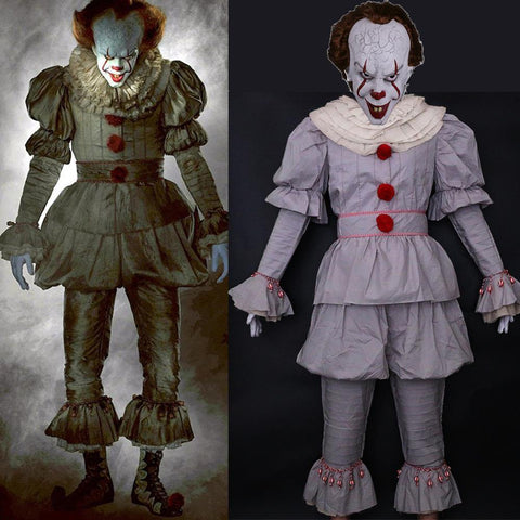 It Movie Pennywise The Clown Outfit Cosplay Costume - SpiritCos