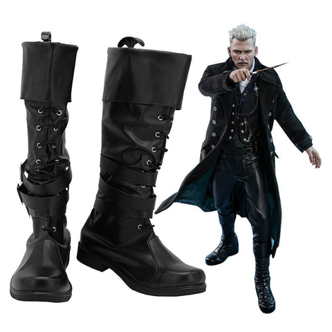 Fantastic Beasts: The Crimes Of Grindelwald Gellert Grindelwald Boots Halloween Costumes Accessory Cosplay Shoes - SpiritCos