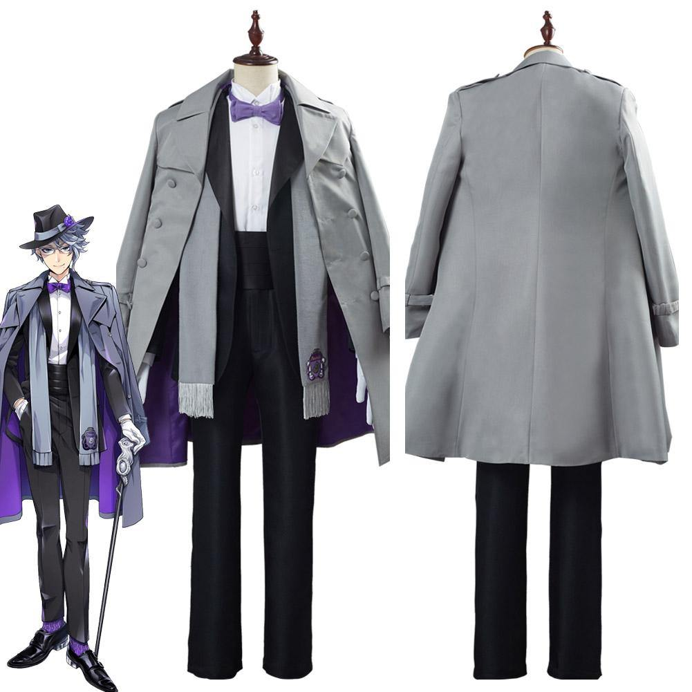 Game Twisted Wonderland Azul Ashengrotto Adult Uniform Outfit Halloween Carnival Suit Cosplay Costume - SpiritCos