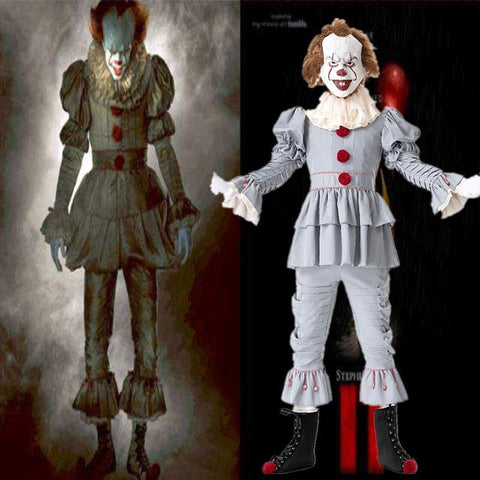 Stephen Kings It Joker Cosplay Costume Pennywise Costume Halloween Costumes Outfit Suit - SpiritCos