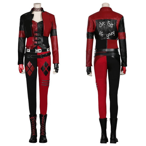 The Suicide Squad ()- Harleen Quinzel/Harley Quinn Coat Pants Outfits Halloween Carnival Suit Cosplay Costume - SpiritCos