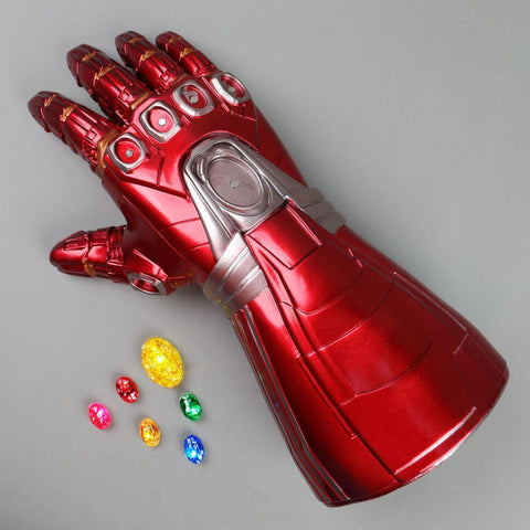 Avengers Endgame Iron Man Gauntlet Gloves Stone Movable Led Light Infinity War Glove Halloween Props - SpiritCos