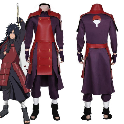 Naruto-Uchiha Madara Top Pants Outfits Halloween Carnival Suit Cosplay Costume - SpiritCos