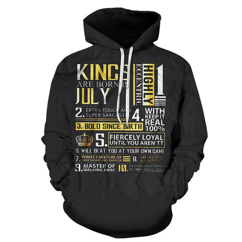 Guys Born In July Personality 3D - Sweatshirt, Hoodie, Pullover - SpiritCos