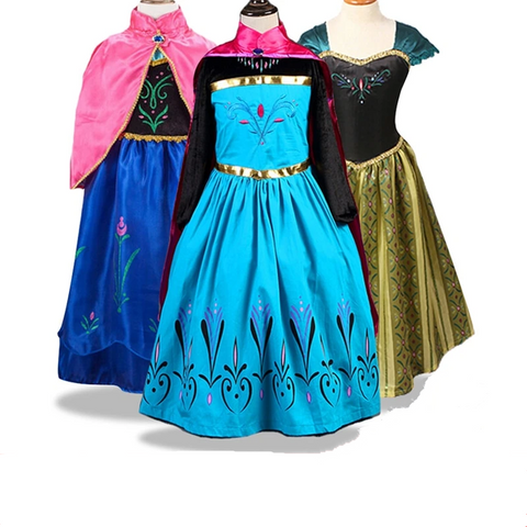 Baby Girls Frozen 2 Anna Elsa Christmas Cosplay Costumes Summer Dress - SpiritCos