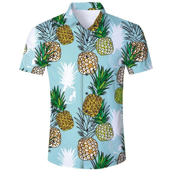 Mens 3D Printing Shirts Pineapple Pattern Style - SpiritCos