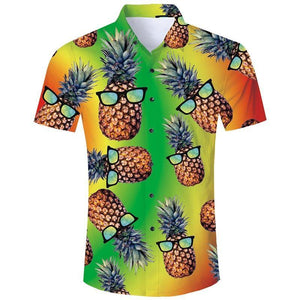 Mens 3D Printing Shirts Pineapple Pattern - SpiritCos