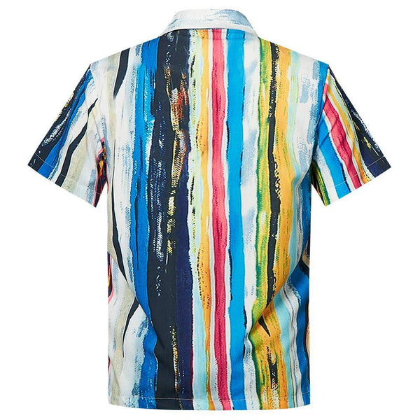 Men'S Hawaiian Shirt Stripe Printing - SpiritCos