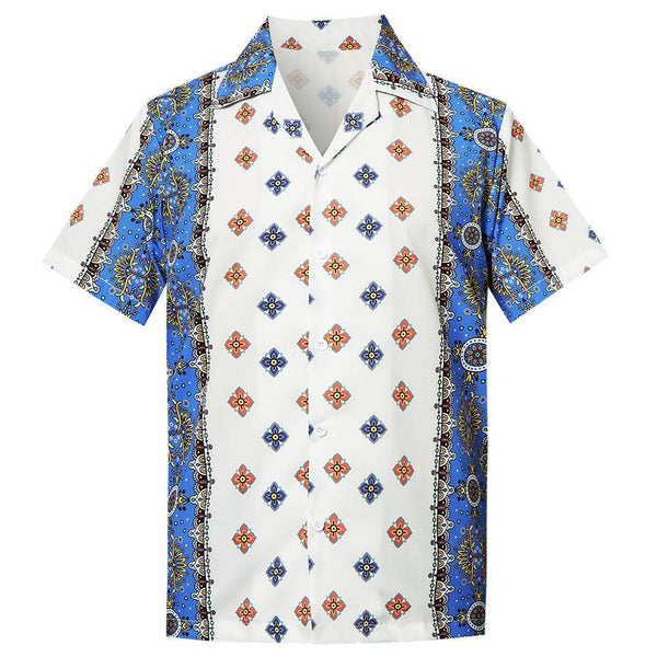 Men'S Hawaiian Shirt Floral Pattern Printing - SpiritCos