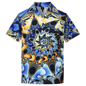 Men'S Hawaiian Shirts Peacock Pattern Printing - SpiritCos