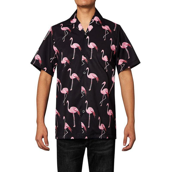 Men'S Hawaiian Shirts Flamingo Printed - SpiritCos