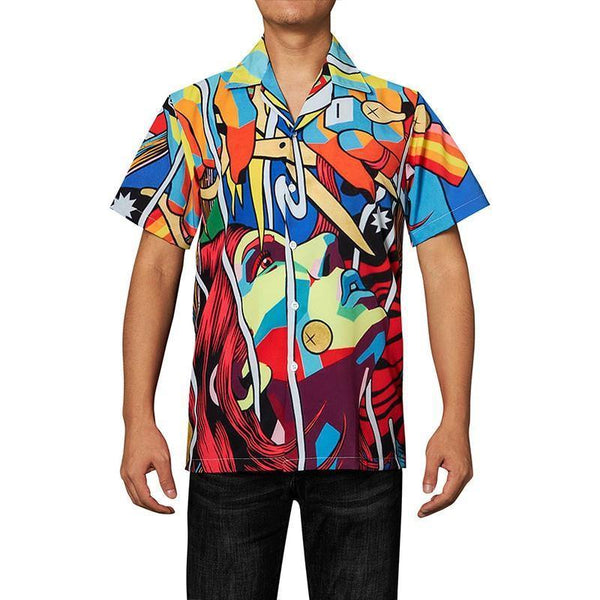 Men'S Hawaiian Shirts Art Printed - SpiritCos
