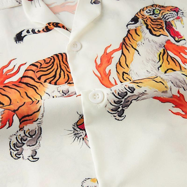 Men'S Hawaiian Shirts Tiger Printed - SpiritCos