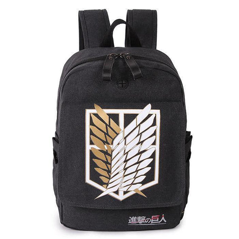 Anime Comics Attack On Titan Canvas Backpack Csso116 - SpiritCos