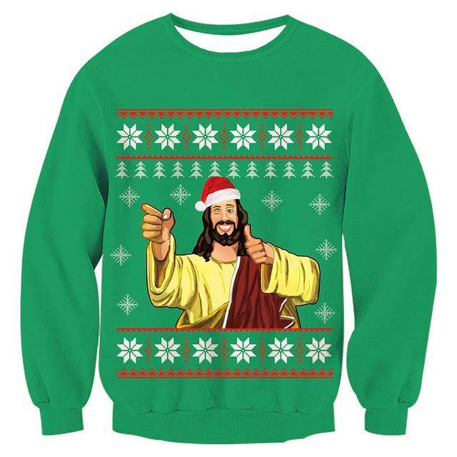 Mens Womens Funny Christmas Green Sweater - SpiritCos