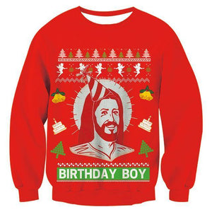 Mens Womens Red Funny Christmas Sweater - SpiritCos