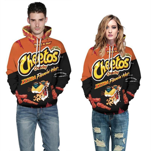 Mens Hoodies 3D Graphic Printed Cheetos Pullover - SpiritCos