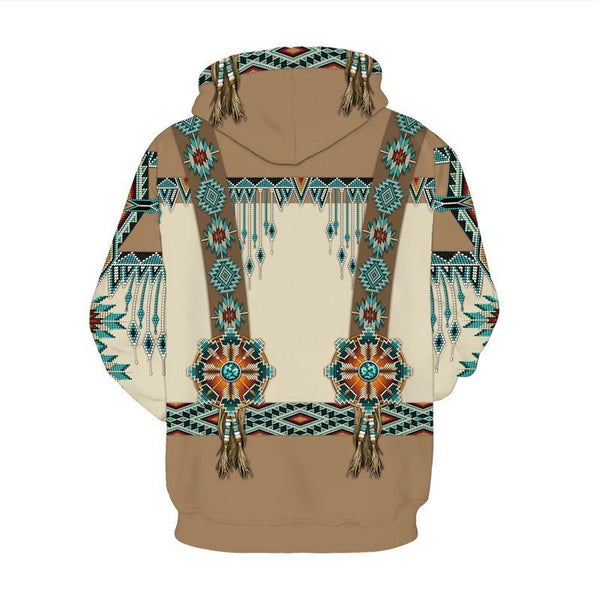 Mens Hoodies 3D Graphic Printed Indian Style Pullover Hoody - SpiritCos