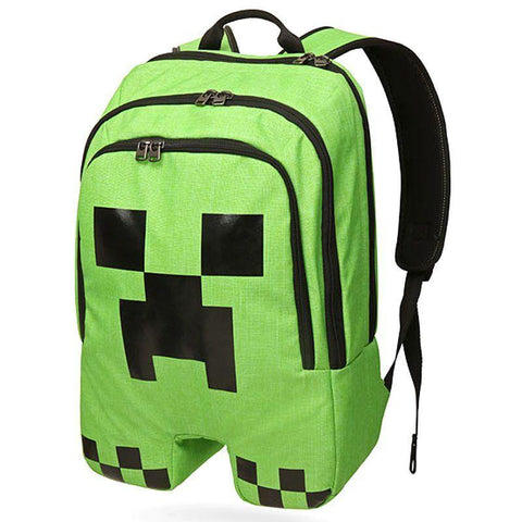 Minecraft Creeper Cartoon Backpack Children School Bags Boys And Girls Backpack - SpiritCos