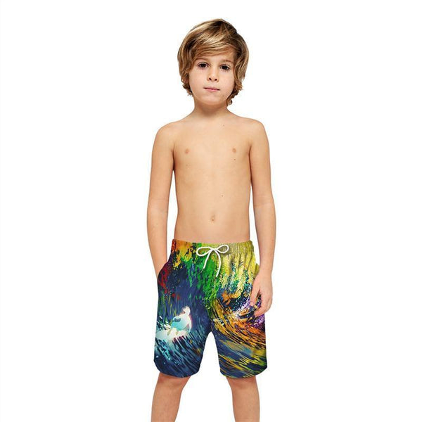 Colorful Galaxy Beach Board Shorts - SpiritCos