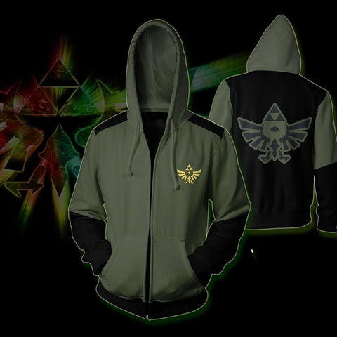 The Legend Of Zelda Zip Up Hoodie - SpiritCos