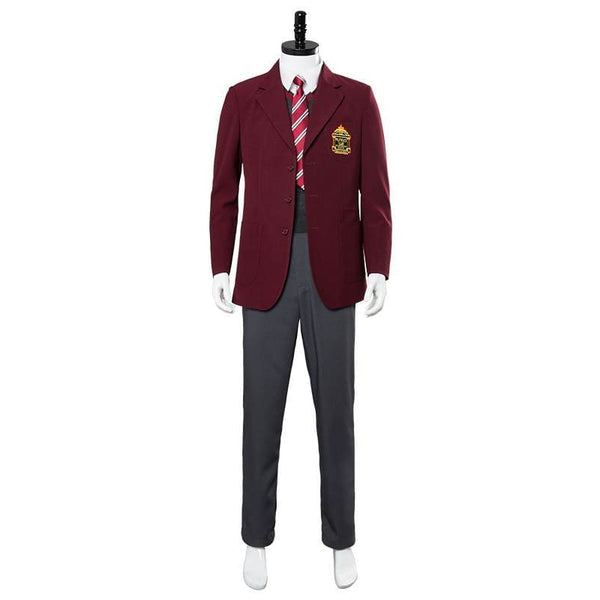 A Series Of Unfortunate Events Klaus Baudelaire School Uniform Cosplay Costume - SpiritCos