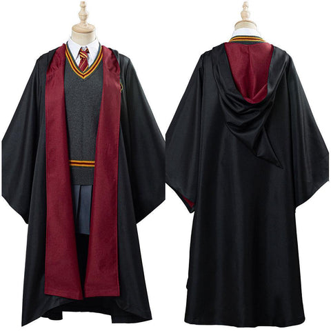 Harry Potter Hermione Granger Gryffindor School Uniform Women Robe Cloak Outfit Halloween Carnival Costume Cosplay Costume - SpiritCos