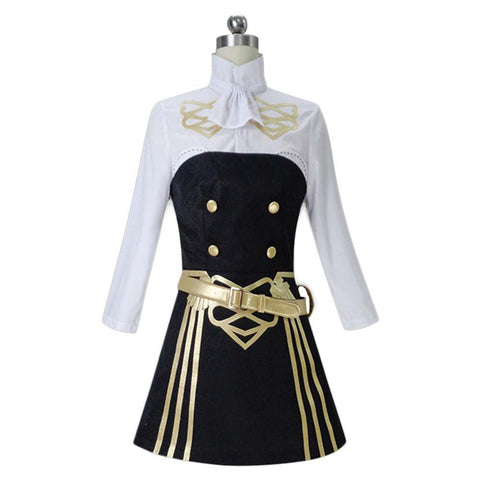 Fire Emblem: Three Houses Hilda Women Tube Dress Shirt Outfits Halloween Cosplay Costume - SpiritCos