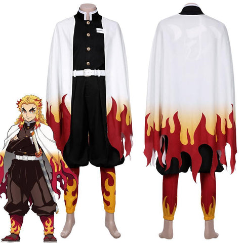 Demon Slayer Rengoku Kyoujurou Outfit Cosplay Costume - SpiritCos