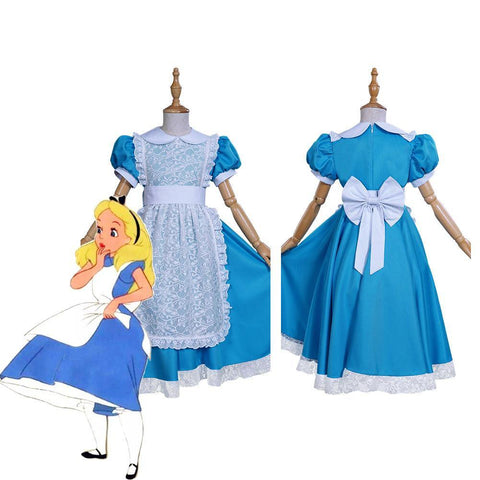 Alice In Wonderland Kids Girls Dress Apron Outfits Halloween Carnival Suit Cosplay Costume - SpiritCos