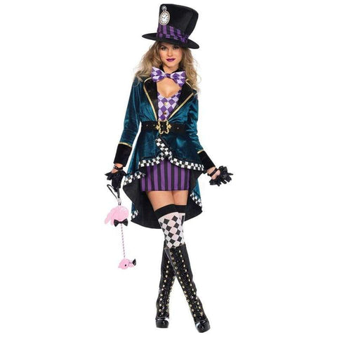 Alice In Wonderland Mad Hatter Magician Cosplay Costume For Females - SpiritCos