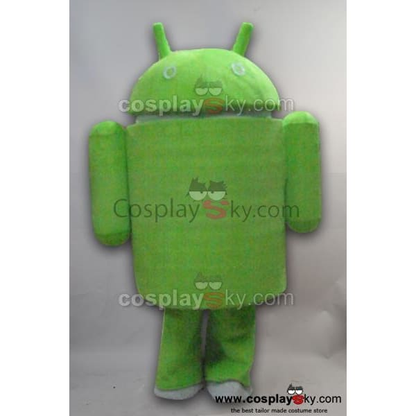 Android Logo Green Robot Mascot Costume Adult Size Style B - SpiritCos