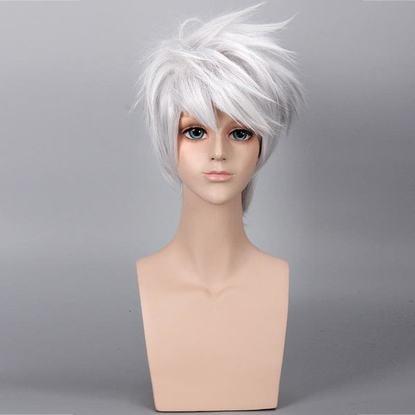 Anime NARUTO Hatake Kakashi Cosplay Wigs (Not Include Headwear ) Halloween,Party,Stage,Play Silver White Short Hair High quality - SpiritCos
