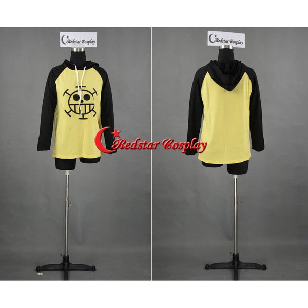 Anime One Piece Trafalgar Law Cosplay Sweater Hoodie Death Surgeon Costume - SpiritCos