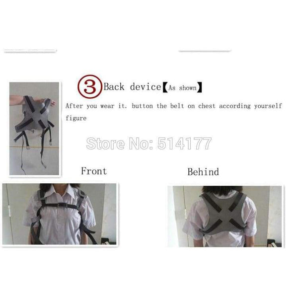 Attack on Titan Shingeki No Kyojin Cosplay Recon Corps Harness Belts Suit Hookshot Cosplay Costume - SpiritCos