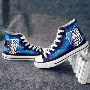 Attack On Titan Shingeki No Kyojin Wings Of Freedom Canvas Shoes Sneakers Luminous Cosplay Shoes - SpiritCos