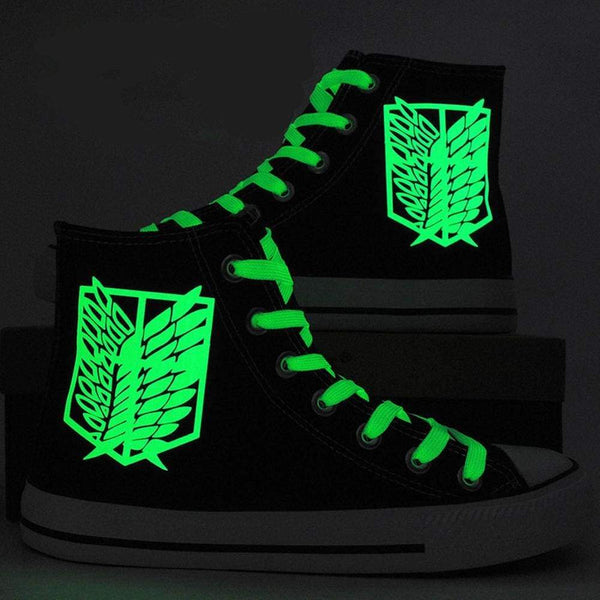 Attack On Titan Shingeki No Kyojin Wings Of Liberty Canvas Shoes Sneakers Luminous Cosplay Shoes - SpiritCos