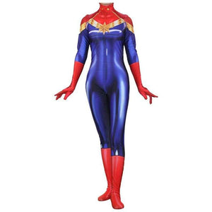 Avengers 3 Infinity War Captain Marvel Ms.Marvel Jumpsuit Cosplay Costume - SpiritCos