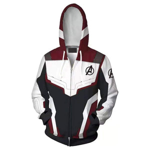 Avenger'S Endgame Hoodie Quantum Realm Suit Zip Up Pullover Jacket Sweatshirt For Adults - SpiritCos