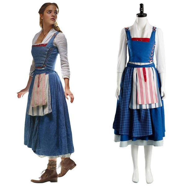 Beauty And The Beast  Film Belle Emma Watson Maid Dress - SpiritCos