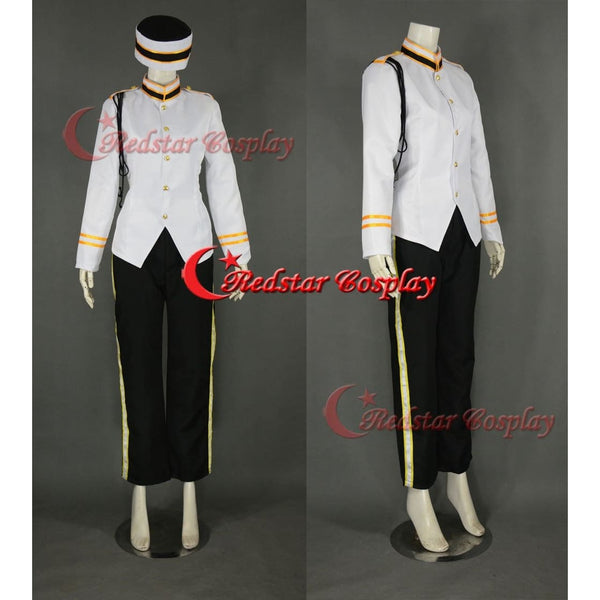 Bellhop Cosplay Costume (White Uniform) From The Twilight Zone Tower Of Terror - SpiritCos