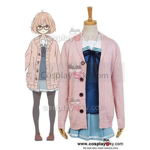 Beyond The Boundary Mirai Kuriyama Cosplay Costume(Not Includes Cardigan) - SpiritCos