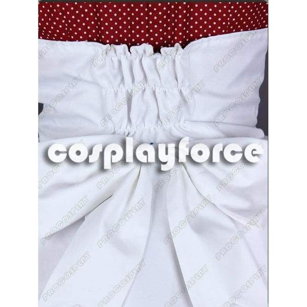 Bioshock Little Sister Burgandy Cosplay Costumes With White Dots - SpiritCos